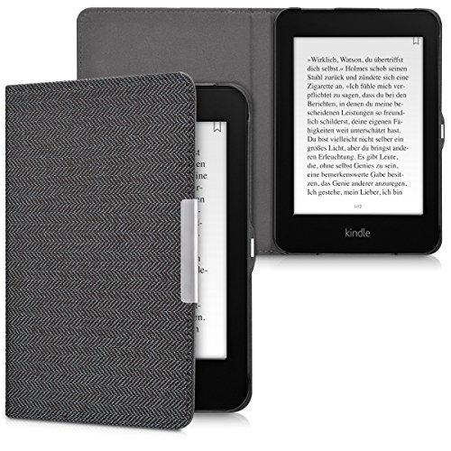 kwmobile Coque liseuse Amazon Kindle Paperwhite - Coque avec rabat magnétique en tissu canevas pour liseuse Amazon Kindle Paperwhite by kwmobile
