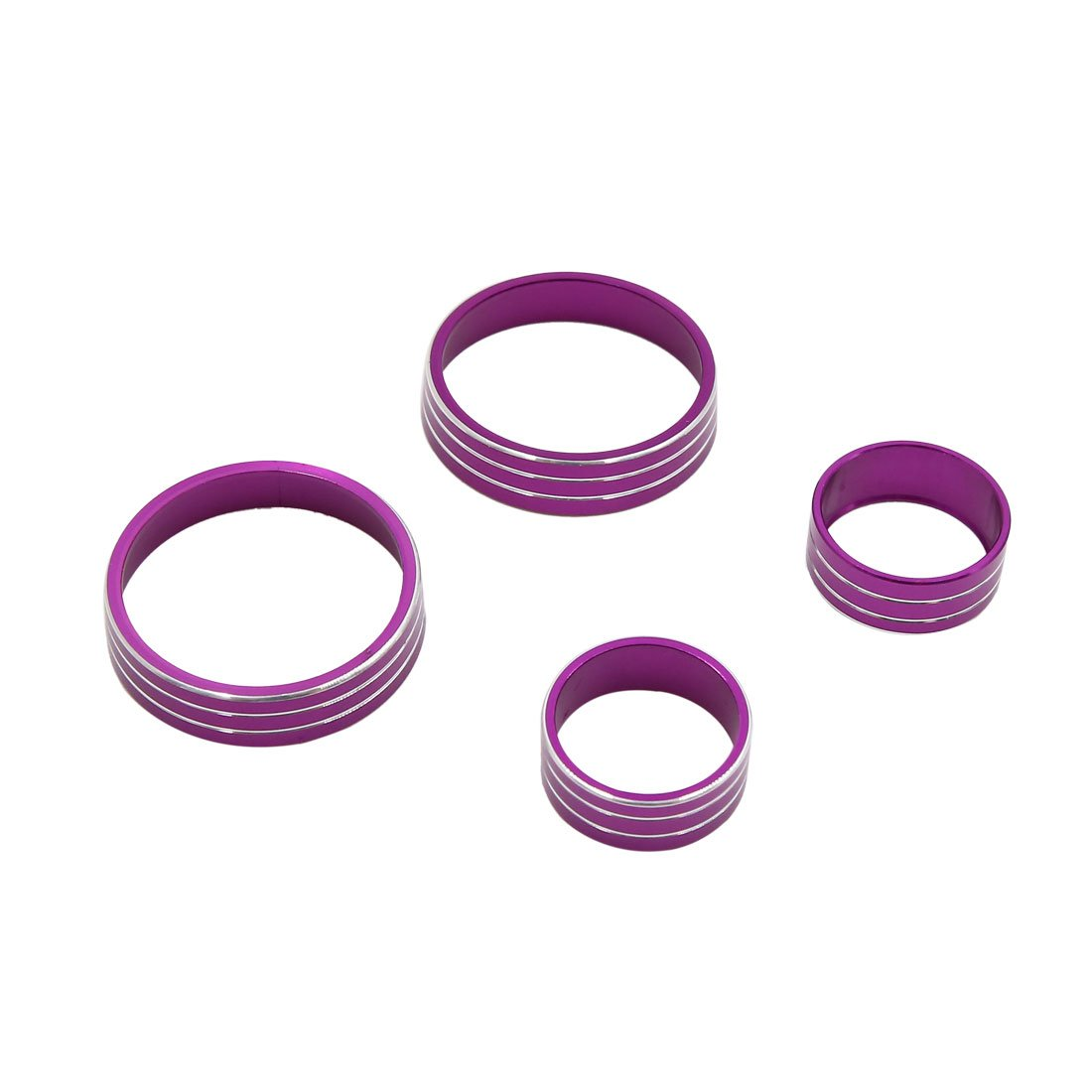 uxcell 4pcs Purple Air Condition Switch Audio Button Decorative Ring Set for Kia KX5