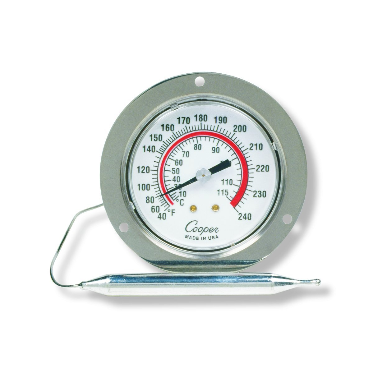 Cooper-Atkins 7112-05-3 Vapor Tension Panel Thermometer with Front Flange 40//240/°F Temperature Range NSF Certified