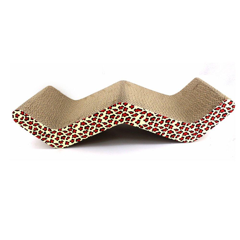 Aqi7 Corrugated Paper Pet Cat Scratch Board, Cat Toy Cat Claw Sofa Bed, Large Cat Sharpener