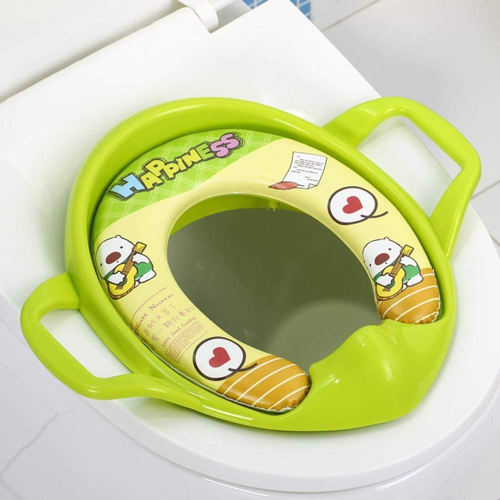 jingyuu R/éducteur Toilette Enfant Si/ège de Toilette B/éb/é Confortable Lunette de Toilette