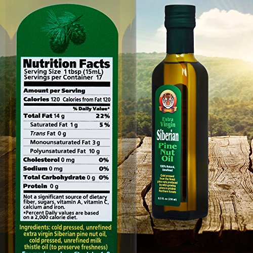 Extra Virgin Siberian Pine Nut Oil, 8.5 oz. Bottle - Premium Quality, Unrefined, 100% Natural - Benefits Overall Health & Aids Gastritis, Ulcers, Digestive Issues by Siberian Tiger Naturals (Image #8)