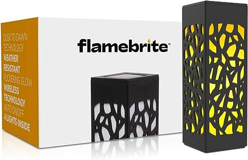 Brightology Flamebrite Outdoor Pathway Solar Lights Set of 4