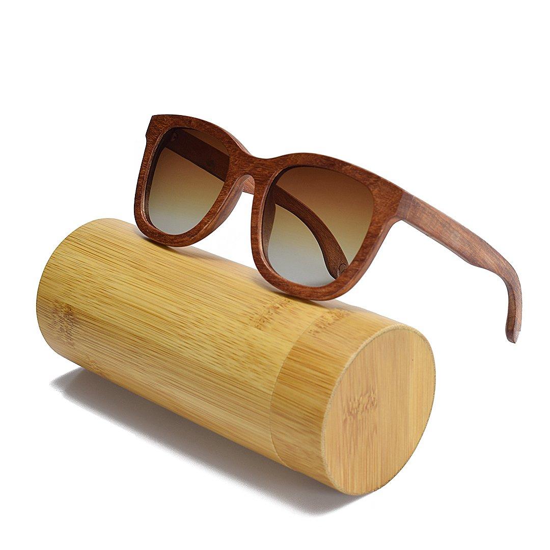 8bf12696720721 BEWELL Lunettes de Soleil Bois Homme polaris é lens eyewear avec Bois de  monture Casual V êtements Accessoires G003A G003A Sports Lunettes Vintage  Retro ...