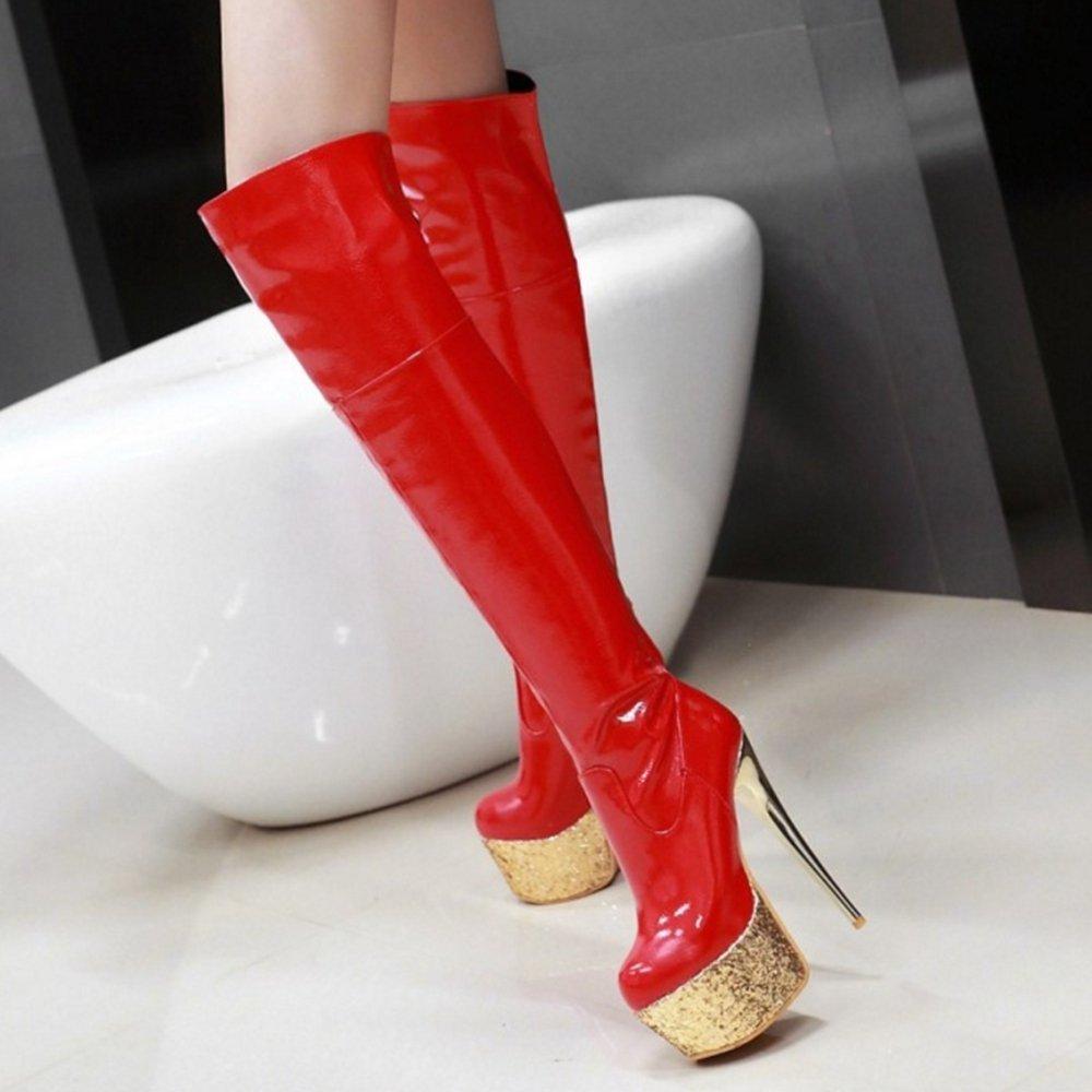 Smilice Damen Mode & Sexy über Kniehohe Stiefel Stiefel Stiefel mit Stilettoabsatz Plateau Langschaft Stiefel 17e6ba