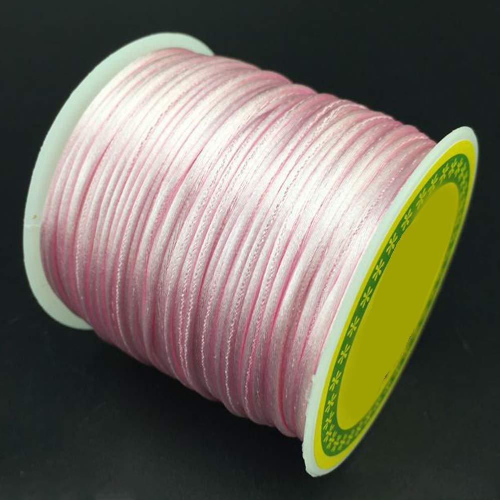 Taglia libera 50 m//rotolo di filo di nylon per perline da 1,5 mm in macram/è intrecciato per creare braccialetti collane e gioielli bianco Nodo cinese