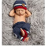 Fashion Newborn Boy Girl Baby Costume Knitted Photography Props Hat Pant