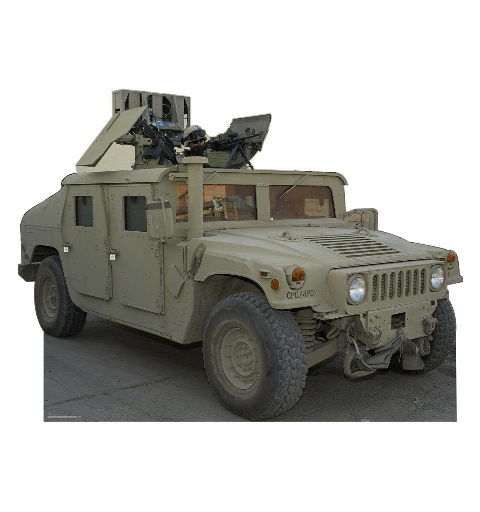 Army Hummer - Advanced Graphics Life Size Cardboard Standup