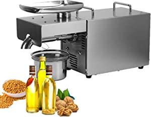 FREEDOH Automatic Oil Press Machine Home Commercial Cold/Hotoil Extractor Oil Expeller Can Be Squeezed Peanut Rapeseed White/Black Sesame Hemp Biomass