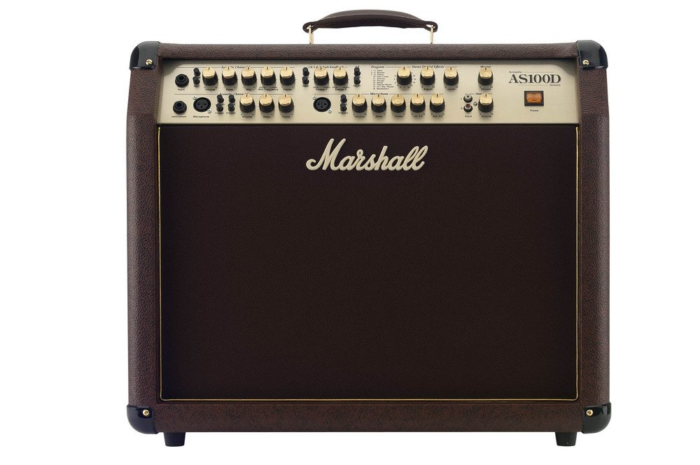 Marshall AS100D Acoustic Series 100-Watt 2x8-Inch Guitar Combo Amp by Marshall Amps