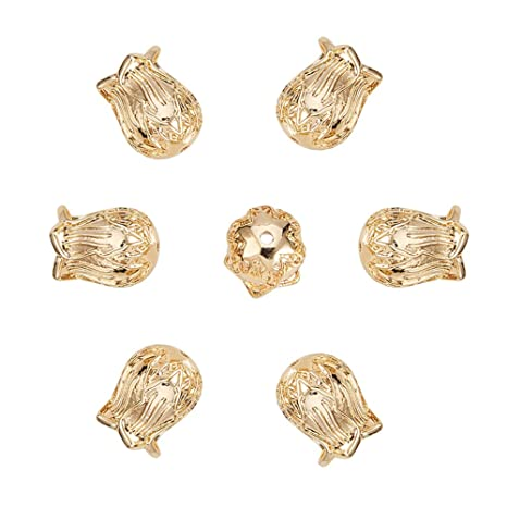 Beads & Jewellelry Making Supplies 20pcs Necklace Bracelet End Bead Caps For 8mm Leather Cord Jewelry Findings Jewellery Crimps & Cord Ends