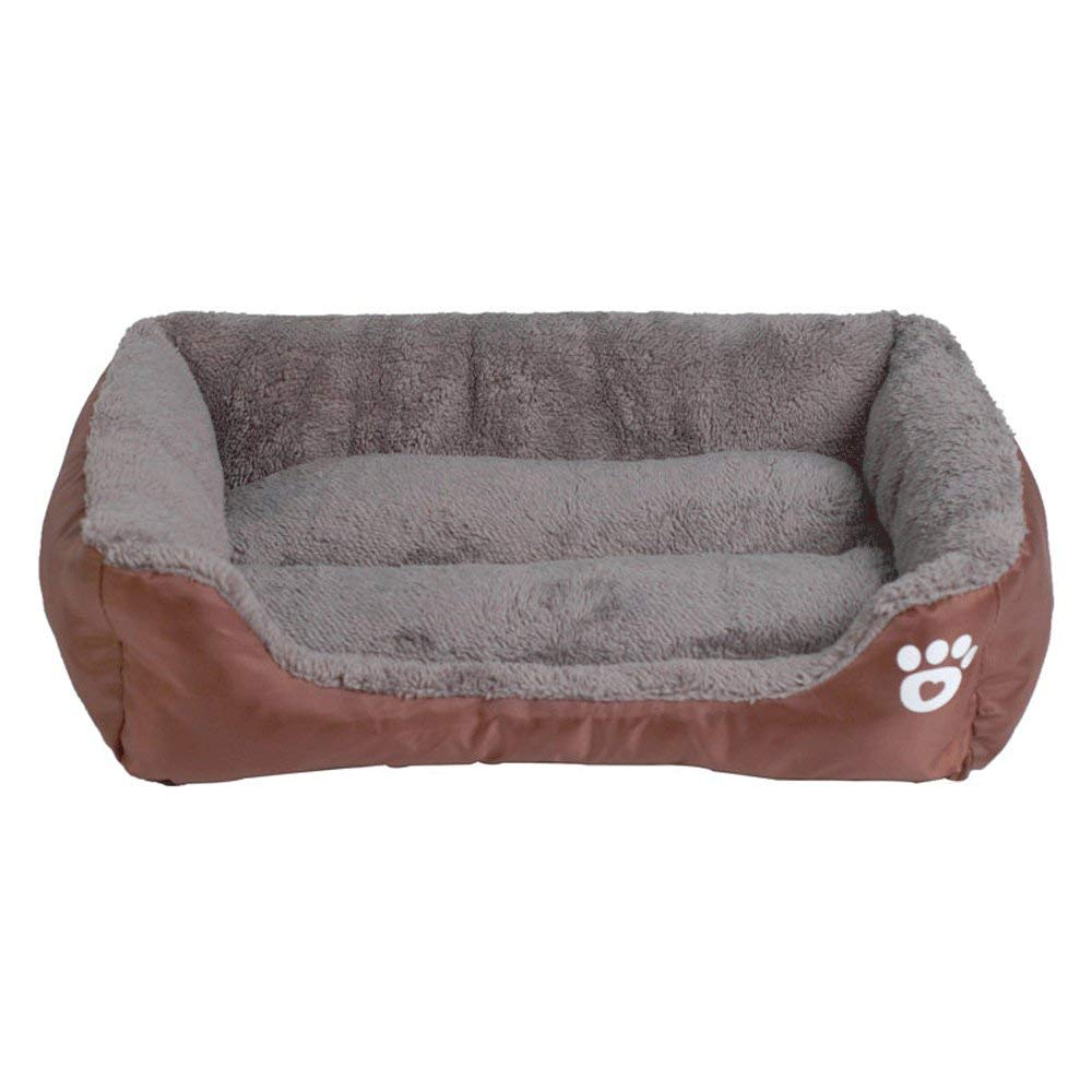 Brown MDeluxe Pet Dog and Cat Warm Bed,Removable Washable Cover Sleeping Cozy Nest,Soft Washable Hardwearing Basket Premium Plush,orangeXL