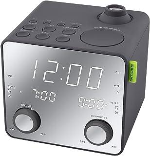 Philips AJ4800 Radio Réveil projecteur avec Tuner FM, Grand écran ... bbd9d9da36d5