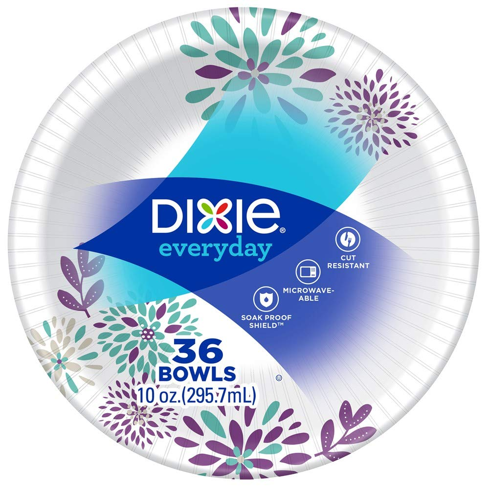 10 oz Dixie Everyday Disposable Paper Bowls 324 Count Product Printed