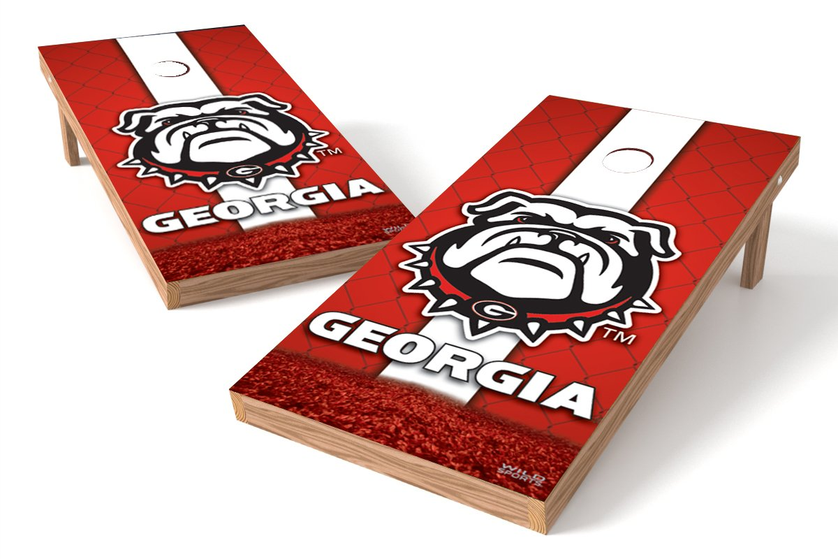 Wild Sports NCAA College Georgia Bulldogs 2' x 4' Authentic Cornhole Game Set