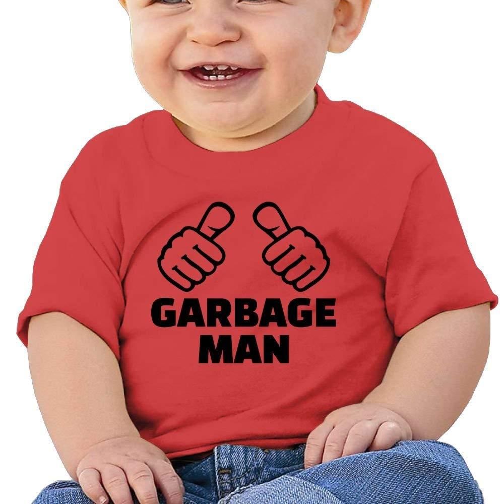 Cute Short Sleeve T-Shirts Garbage Man Birthday Day Baby Boys Infant