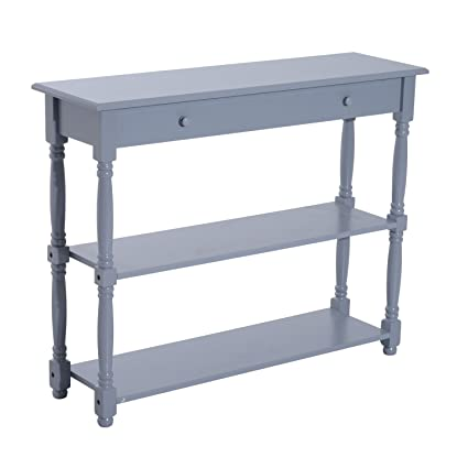 Exceptionnel New Grey Console Table Wood Entryway Sofa Accent Hallway Living Room  Furniture