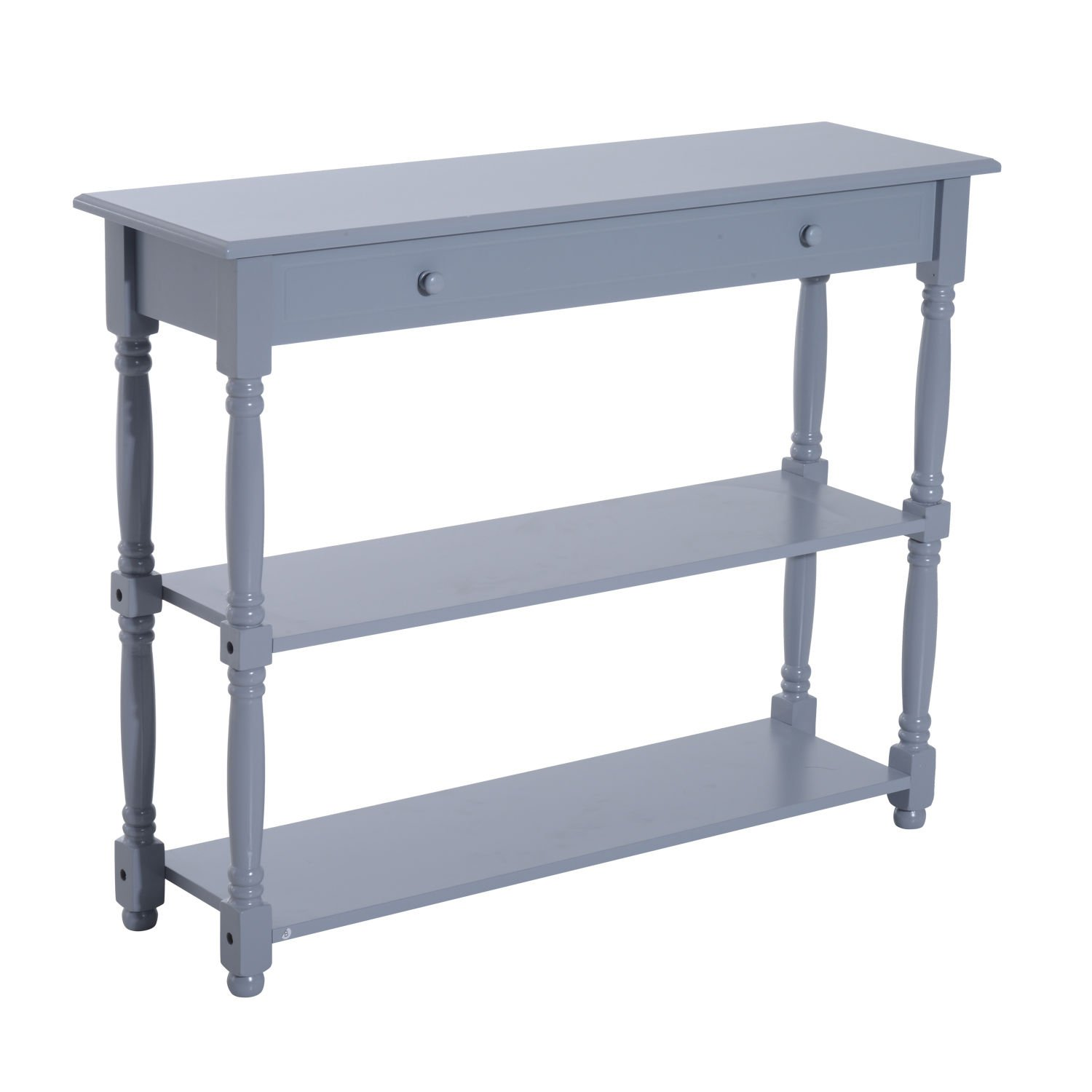 New Grey Console Table Wood Entryway Sofa Accent Hallway Living Room Furniture by Generic