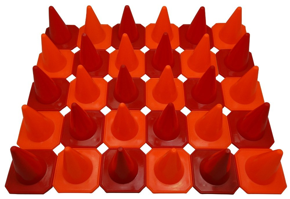 Bluedot Trading 4'' RC Racing Agility Cones, Orange & Red - Set of 30