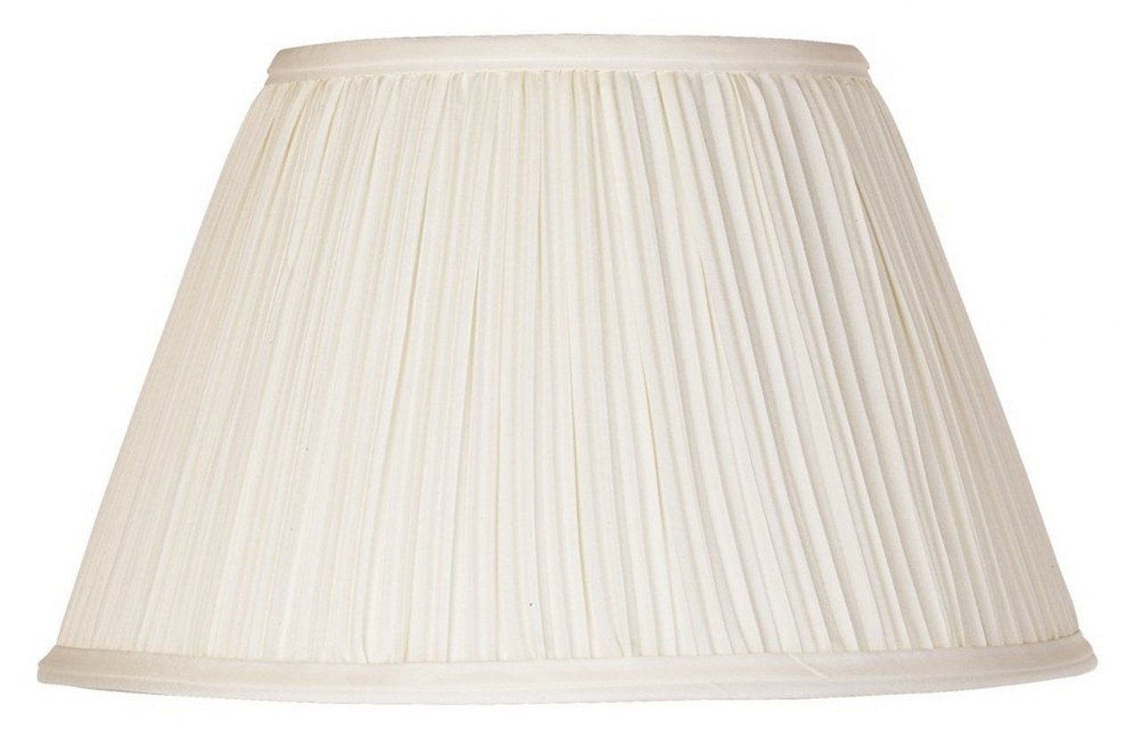 Upgradelights 12 Inch Pleated Lamp Shade Replacement in Eggshell with Attaching Finial 6x12x8 (Washer)