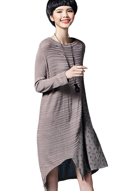 MatchLife Damen Jerseykleider Irregulär Kleider