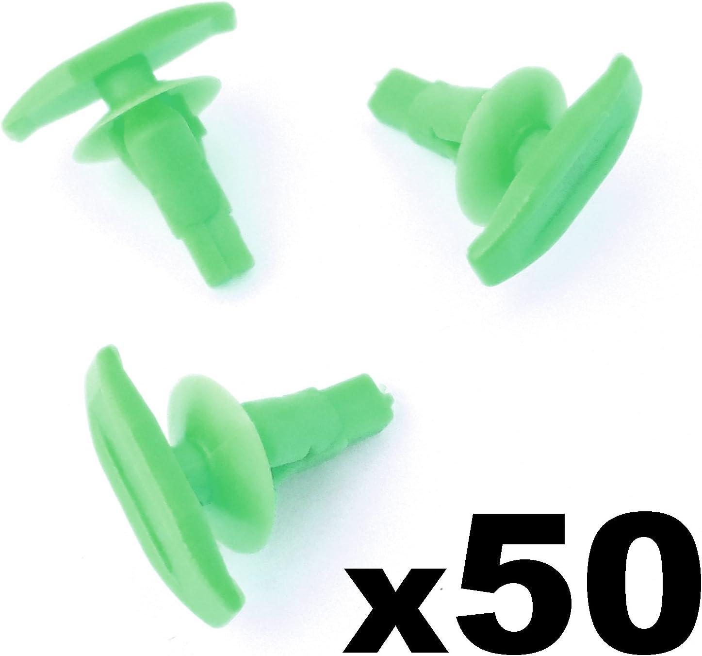 12150/Plastique Joint en caoutchouc et joint de porte Clips 50/pi/èces Vert Auto Trim Clips 6786712150//67867