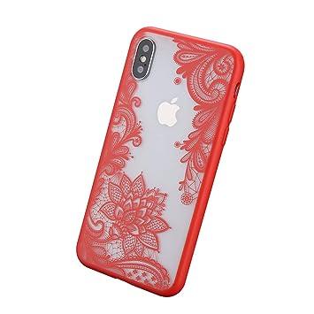 coque iphone 8 plus bord rouge
