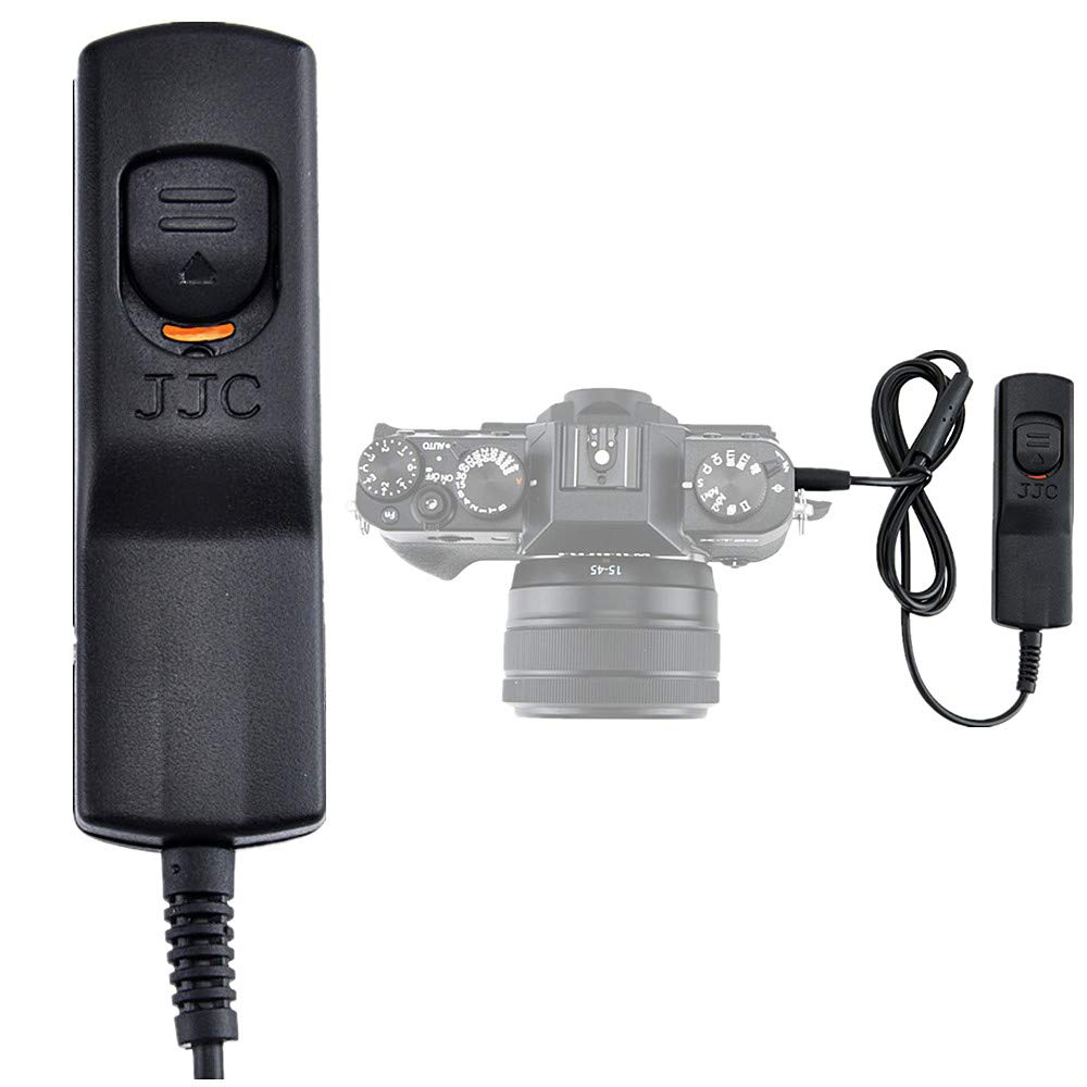 JJC 2.6ft/80cm Cable Wired Shutter Remote Release Control for Fujifilm GFX100 X-T30 X-T3 X-T2 X-T1 X-T20 X-T10 X-Pro2 GFX 50R GFX 50S X-H1 X-T100 X-E3 X-E2S X-A5 X-A10 X100F X100T XF10 Replaces RR-100 by JJC