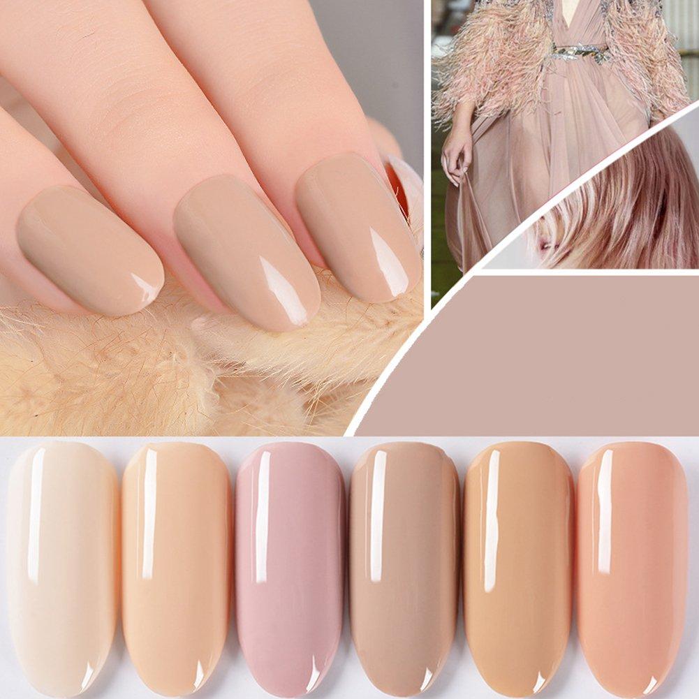 Funie 15ml longue durée Nude Série Soak Off Nail Art Vernis à ongles UV LED Gel vernis–Feutre Semi-Permanent 62011