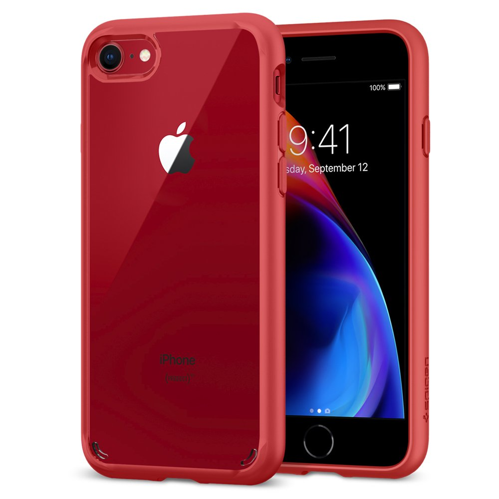 Spigen [Ultra Hybrid 2nd Generation] Reinforced Camera Protection and Air Cushion Technology for iPhone 7 (2016) iPhone 8 (2017) - Red (B06XWDHQJ2) Amazon Price History, Amazon Price Tracker