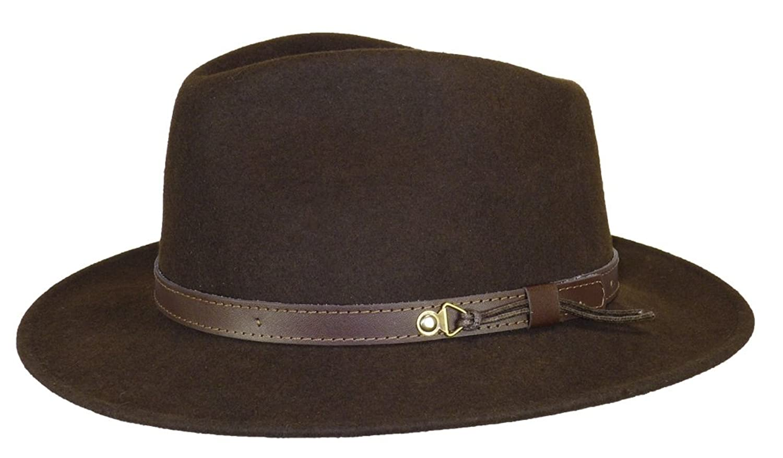 Herman Headwear Samson Rob Brown Felt Hat Unisex B01N0LTG67