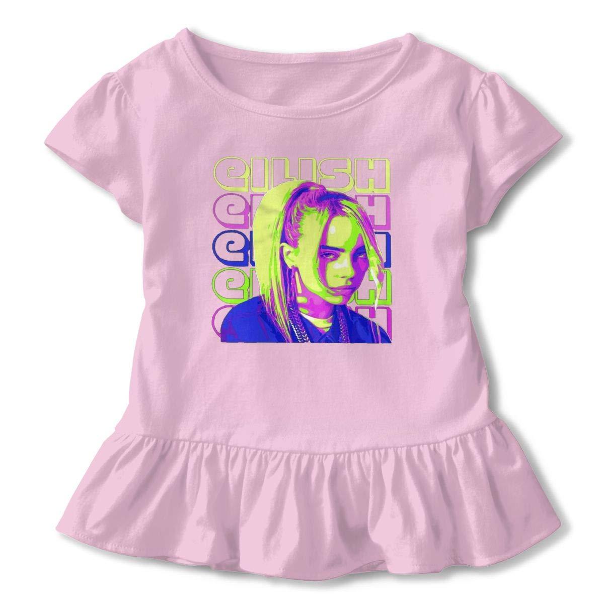 e9322835 Amazon.com: Billie-Eilish Lovers Baby Girls Short Sleeve T-Shirt for Kids  Tee Soft Cotton Shirt Cute Pink Princess Sweetheart: Clothing