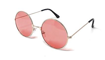 3f4e1a430f49 UltraByEasyPeasyStore Oro Frame Lentes Rojos Adultos Gafas De Sol Redondas  Estilo Retro John Lennon Calidad Vintage