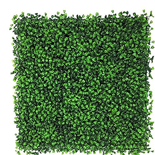 Boxwood Mat - Artificial Boxwood Hedge, Privacy Hedge Screen, UV Protected Faux Greenery Mats, Boxwood Wall, Suitable for Both Outdoor or Indoor, Garden, Backyard and Home Décor,20 x 20 Inch (1 Piece)