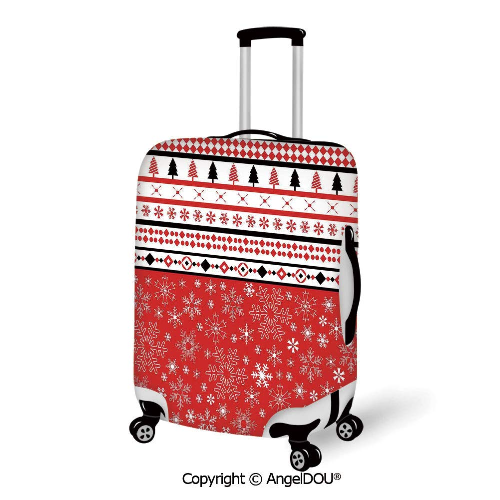 Travel Luggage Cover Owl Eyes Design Travel Suitcase Protector Anti-scratch Washable Dust Thicken Elasticity Cover