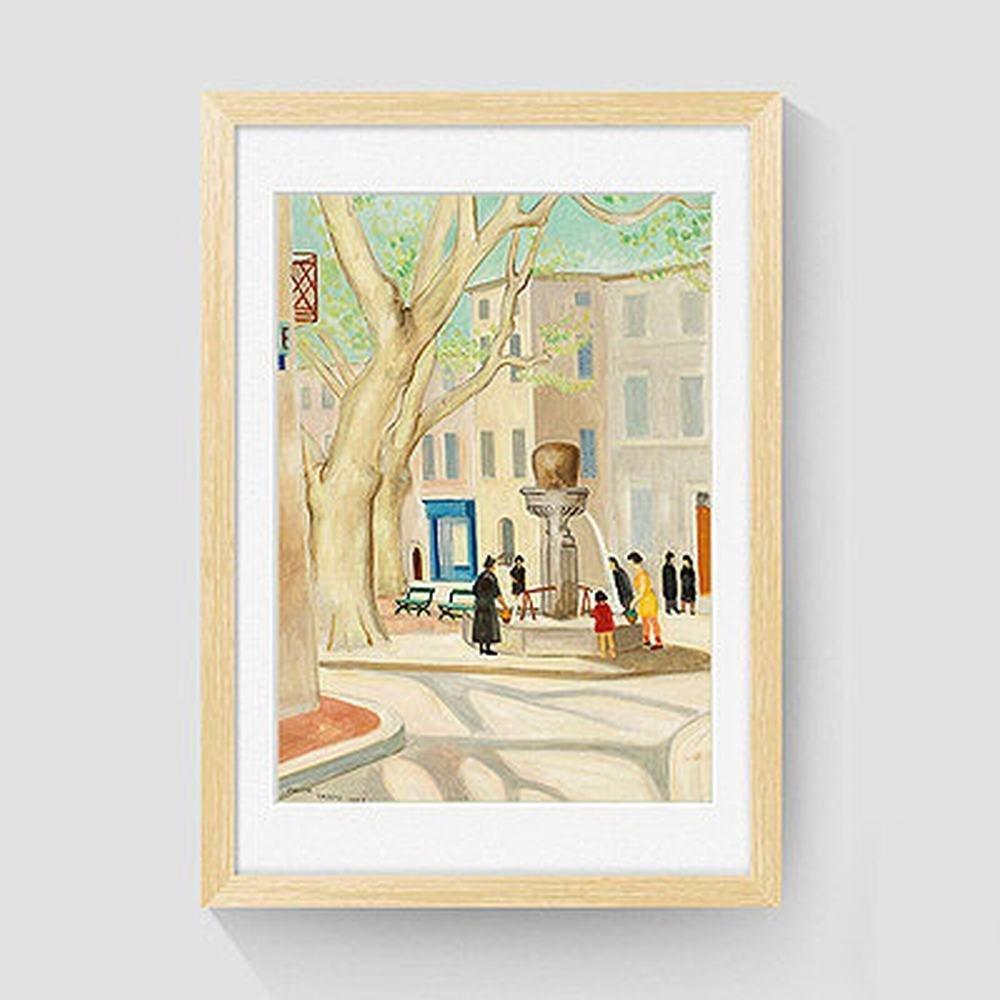 WJ Sala de Estar Pinturas Decorativas Simple Pinturas Enmarcadas Mural Pinturas Inicio Pinturas,Color madera ,40  60cm