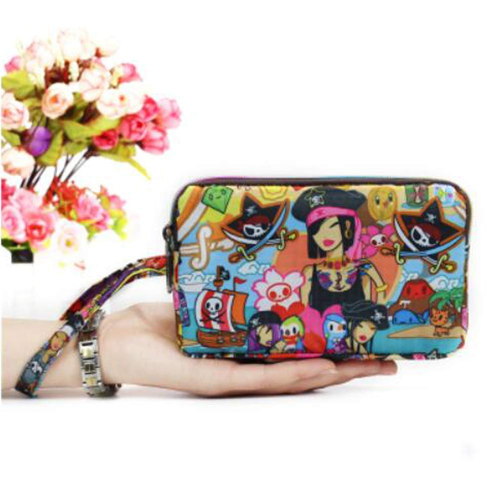 Ladies Fashion Small Card Case Wallet Change Coin Purse Pouch Bag with Zipper, Prosperous City by Lanburch (Image #2)