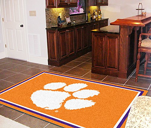 FANMATS NCAA Clemson University Tigers Nylon Face 5X8 Plush Rug by Fanmats (Image #1)