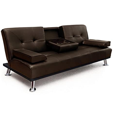 Prime Modern Cinema Faux Leather 3 Seater Sofa Bed With Fold Squirreltailoven Fun Painted Chair Ideas Images Squirreltailovenorg