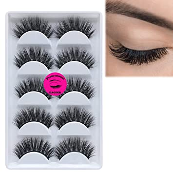 ecbcaff0a0e DAODER 3D & 5D Mink Lashes Dramatic Strip False Eyelashes Thick Long Fluffy  Soft Handmade Reusable