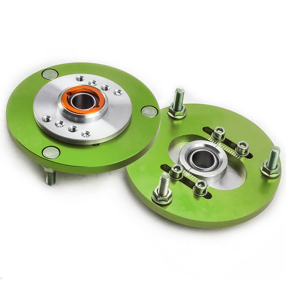 maXpeedingrods Camber Plates for BMW 3 Series E36 318 323 325 328 M3 Front Coilover Suspension Strut Top Mount Green Pair