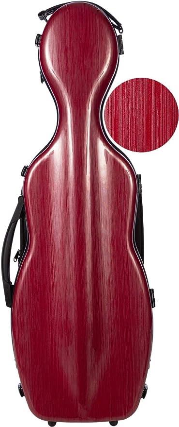 Estuche para violín fibra Steel Effect 4/4 burgundy M-Case: Amazon.es: Instrumentos musicales