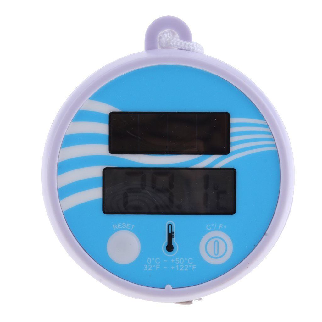 Fenteer Digital Floating Swimming Pool Solar Powered Thermometer Water Temperature, Floats in your pool or spa for constant monitoring