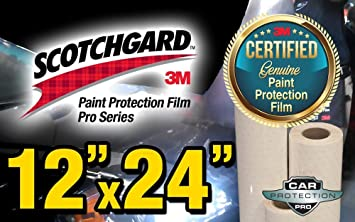 12 Mm X 24 Mm Genuine 3 M Scotchgard Pro Series Paint Protection Film Bulk Roll Clear Bra Piece By Car Protection Pro Auto