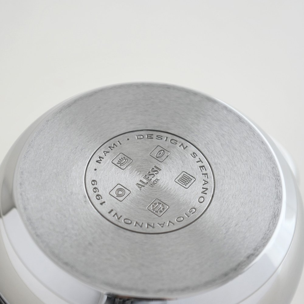 Alessi,SG101/16''MAMI'', Casserole with two handles in 18/10 stainless steel mirror polished,1 qt 23 oz