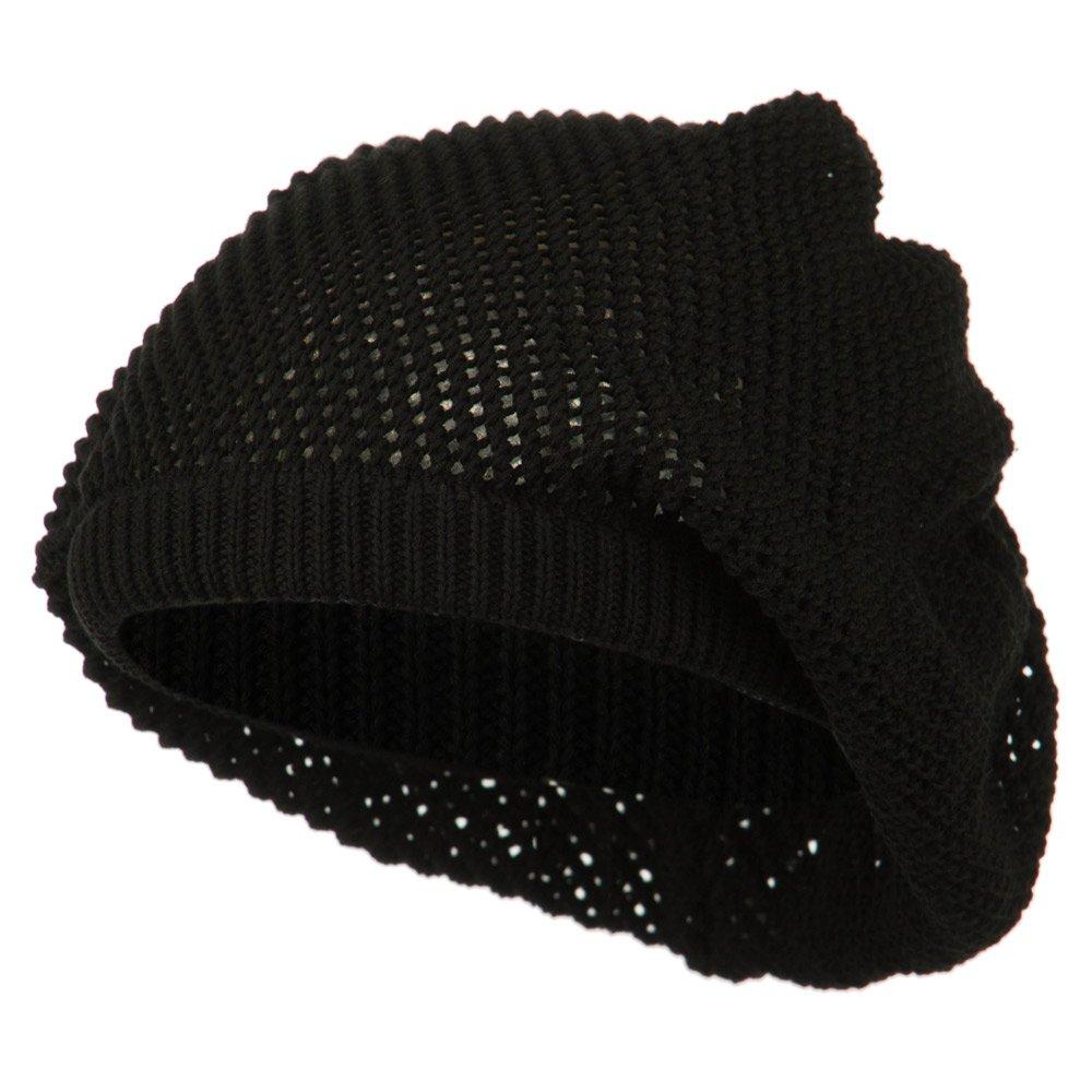 メッシュDeepシェルビーニー帽子 – ブラック One Size  B00NMY0MFY