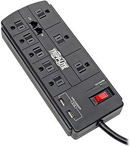 TRIPP LITE USB Charging Computer Surge Protector (TLP88TUSBB)