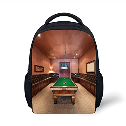 Amazoncom IPrint Kids School Backpack Modern DecorEntertainment - Travel pool table