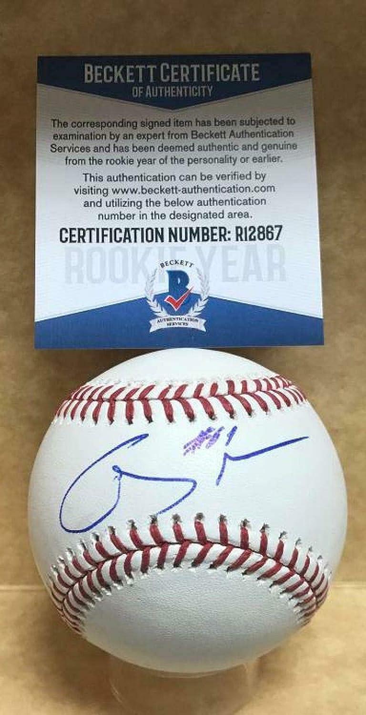 Louis Cardinals Rookie Year Signed M.l Autographed Baseballs Baseball R12867 Genesis Cabrera St