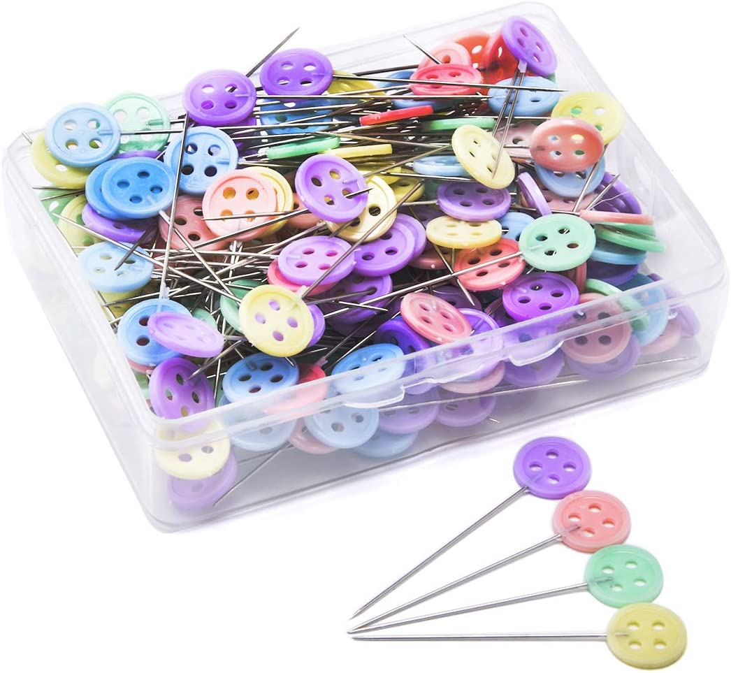 Assorted Colors pengxiaomei 150 Pieces Flat Head Straight Quilting Pins for Sewing DIY Projects Dressmaker Jewelry Decoration